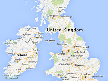 A small map of the UK