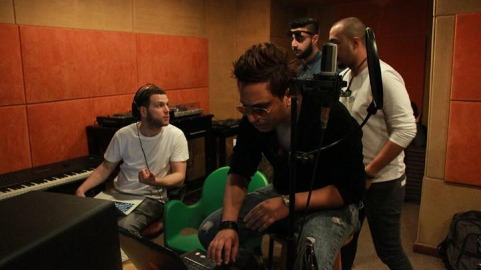 cairo calling artists, mumdance, DJ Figo and Faze Miyake in the studio