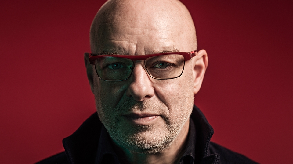 Brian Eno close up