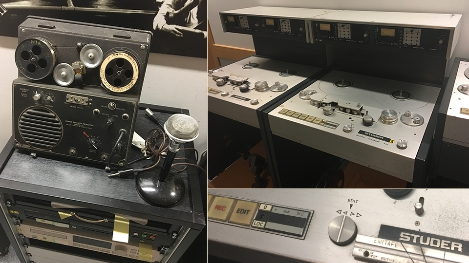 Image of devices used to playback archive material