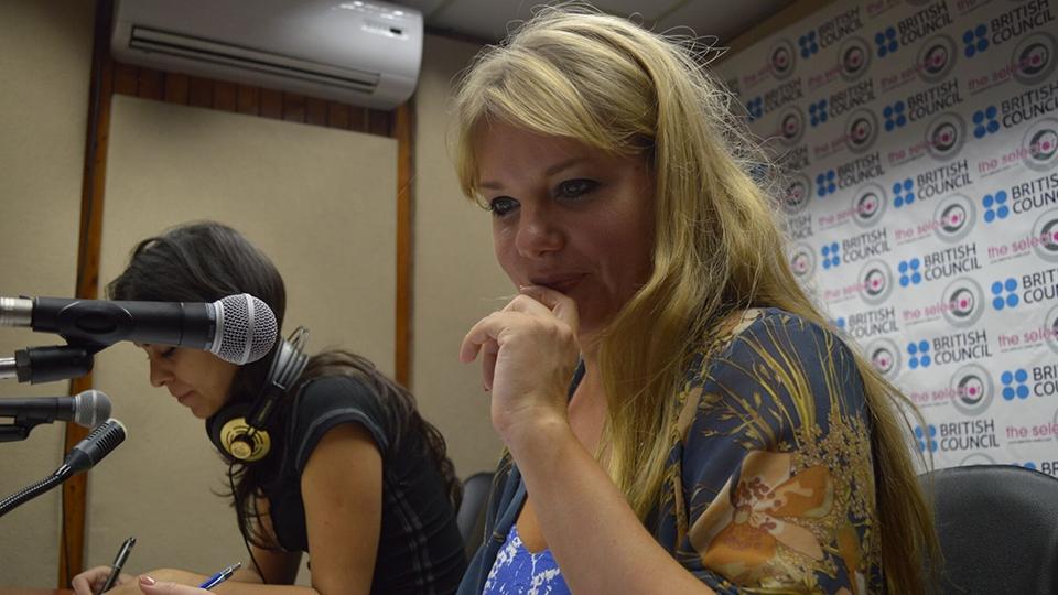 Goldierocks broadcasting live in Cuba