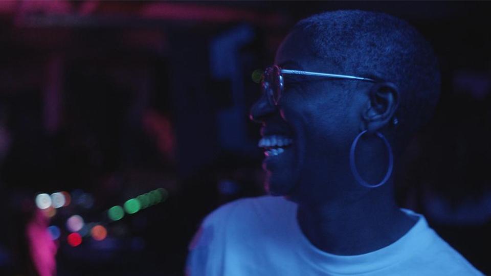 Lady in a nightclub