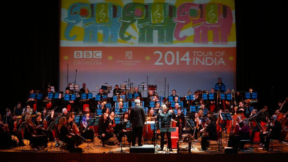 James Macmillan conducting BBC SSO in Siri Fort Auditorium